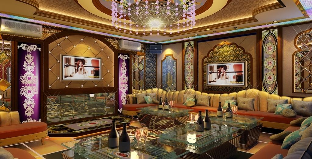 Thiết kế nội thất karaoke tân cổ điển hoàng gia