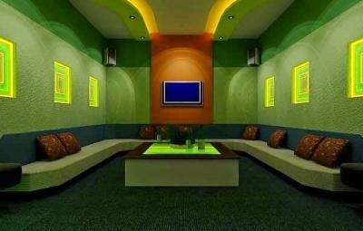 Phòng Karaoke trần thạch cao